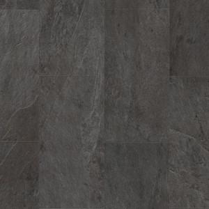 ПВХ плитка QUICK STEP «Сланец черный AMCL40035» из коллекции Ambient Click