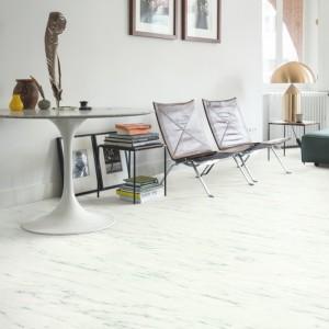 ПВХ плитка QUICK STEP «Мрамор каррарский белый AMCL40136» из коллекции Ambient Click
