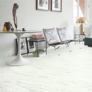 ПВХ плитка QUICK STEP «Мрамор каррарский белый RAMCL 40136» из коллекции Ambient Rigid Click